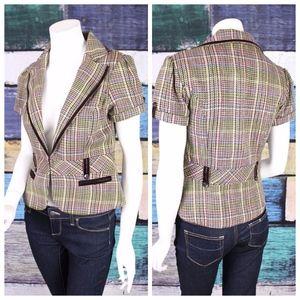 Maurices Studio Y Houndstooth Blazer Jacket Career
